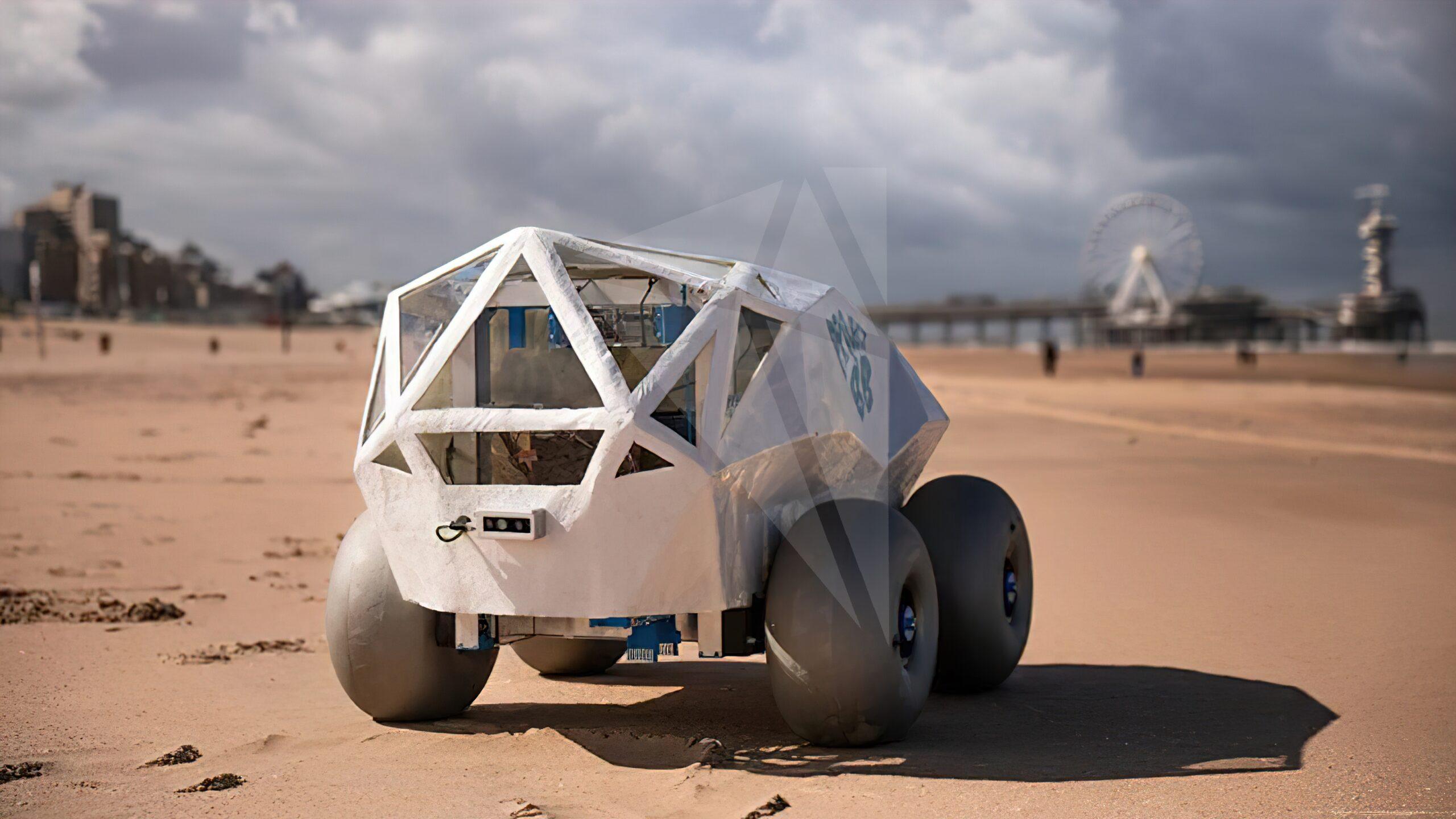 Нидерландская компания создала робота, который собирает окурки на пляже