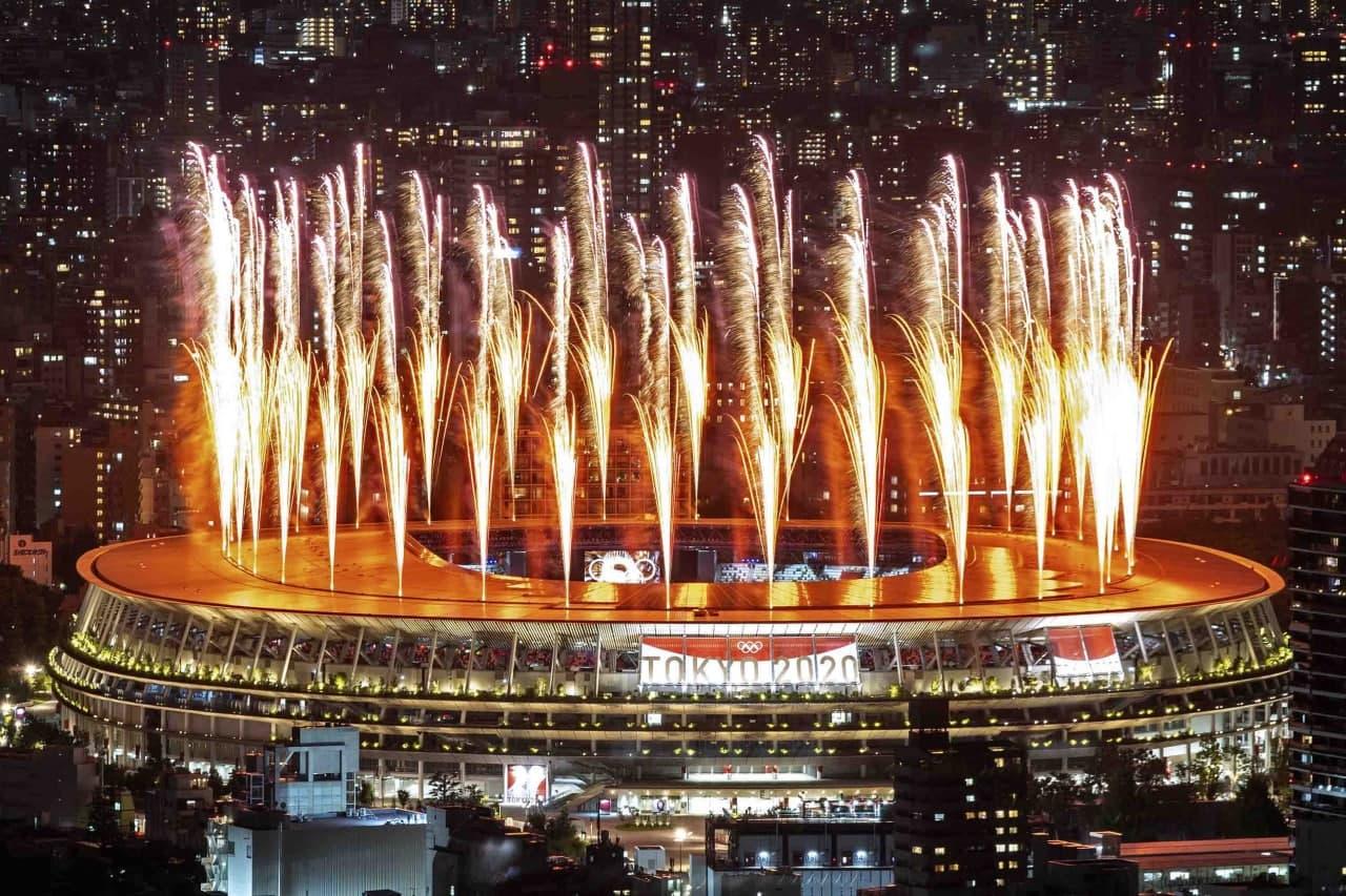 Церемония открытия Олимпийских игр в Токио. Только фото