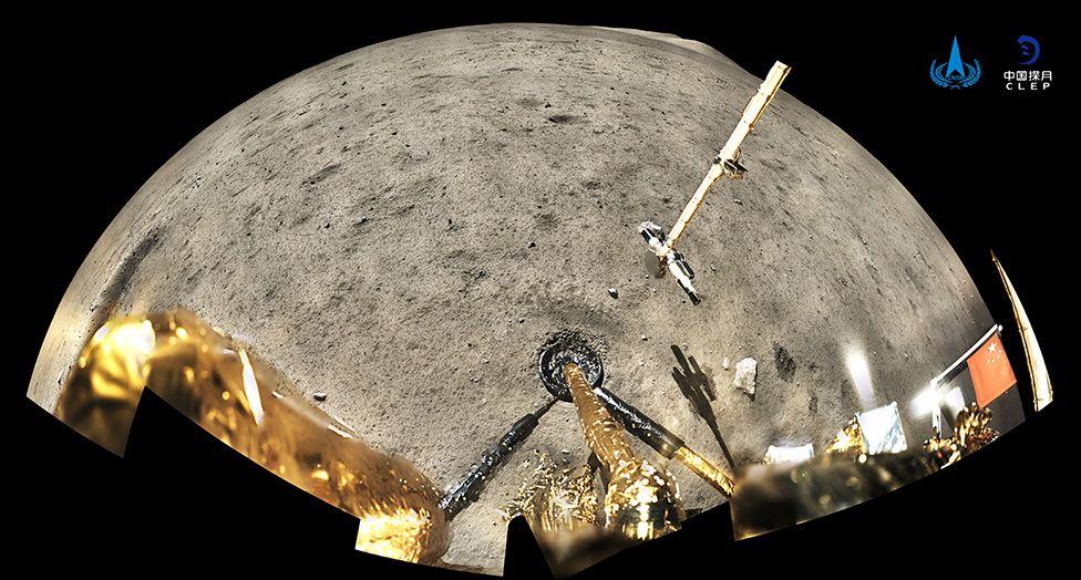 Поверхность Луны с зонда Chang'e-5. Фото — BBC.