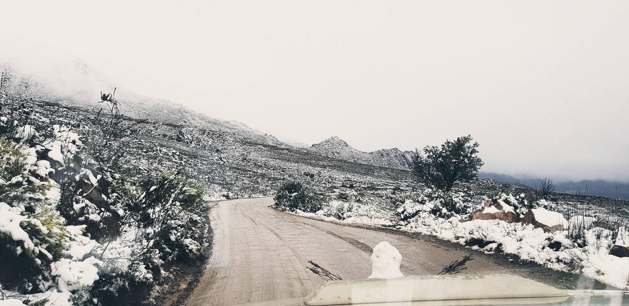 На юге Африки ударили морозы и выпал снег