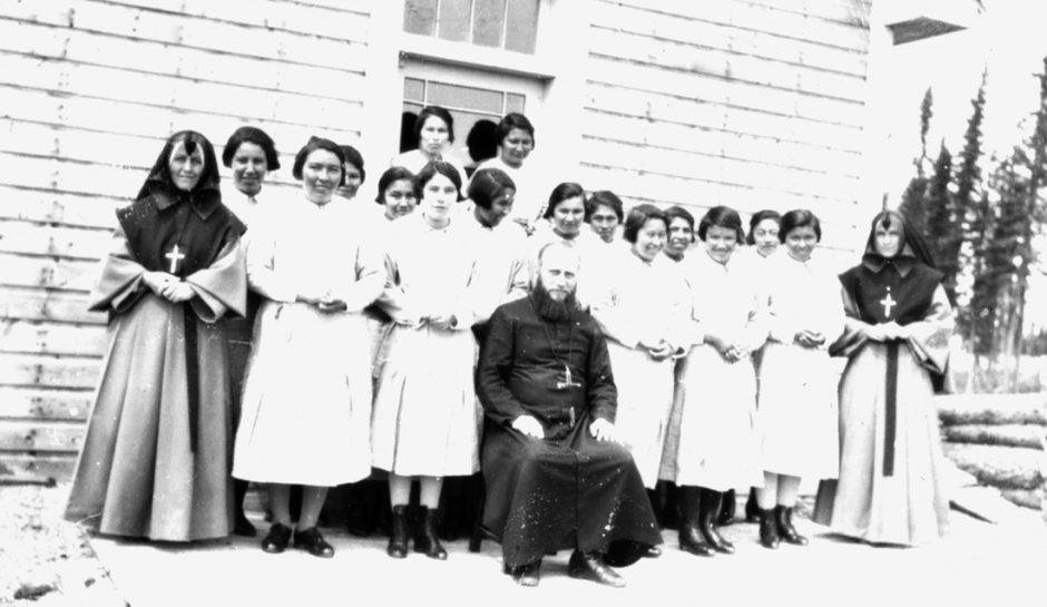 Ученицы школы имени Святой Анны, Онтарио, 1940-е. Фото —Algoma University.