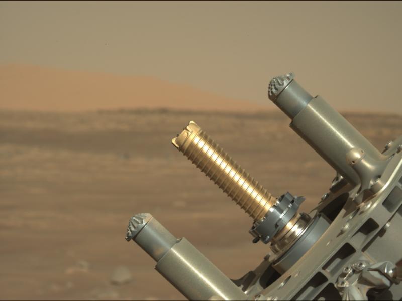 Устройство для сбора образцов грунта. Изображение – NASA.