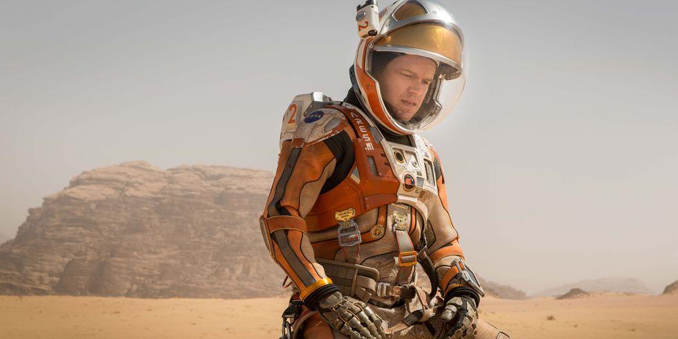 Кадр из фильма «Марсианин» с Мэттом Деймоном в главной роли.