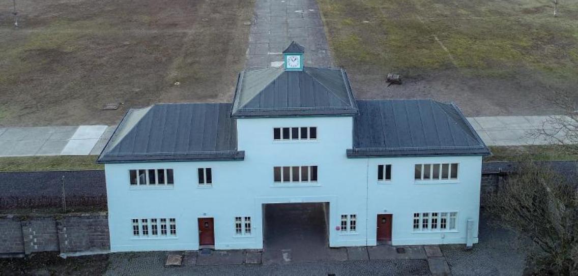 Вход в лагерь для заключенных на территории мемориала Заксенхаузен. Фото — dpa-infocom GmbH.