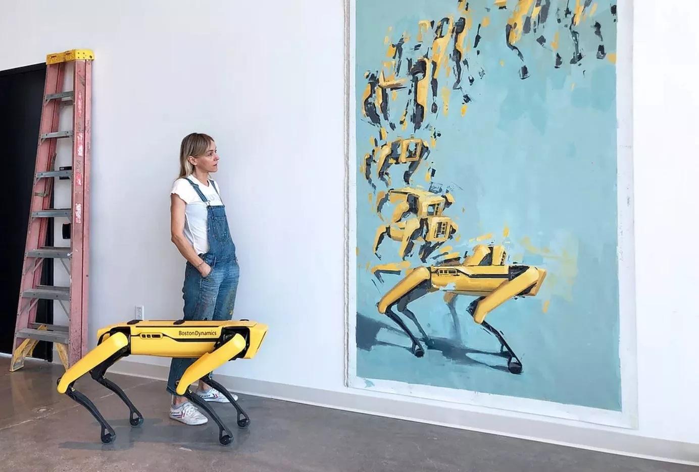 Художница заменяет людей на роботов на картинах эпохи Возрождения. Ей помогает робопес Boston Dynamics