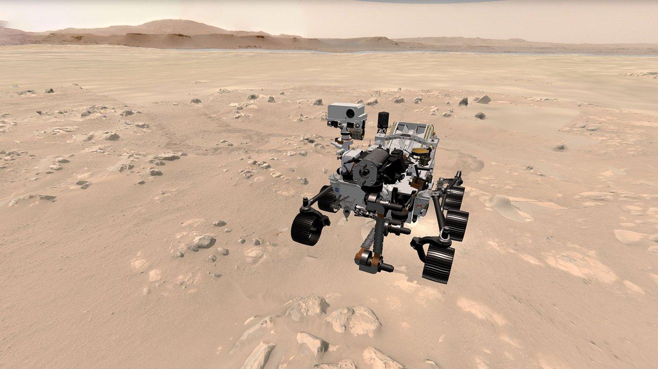 Сайт дня. Следить за марсоходом Perseverance в 3D
