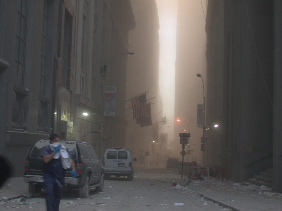 Ранее не опубликованное фото: участок Ground Zero в Нижнем Манхэттене, где был Всемирный торговый центр.