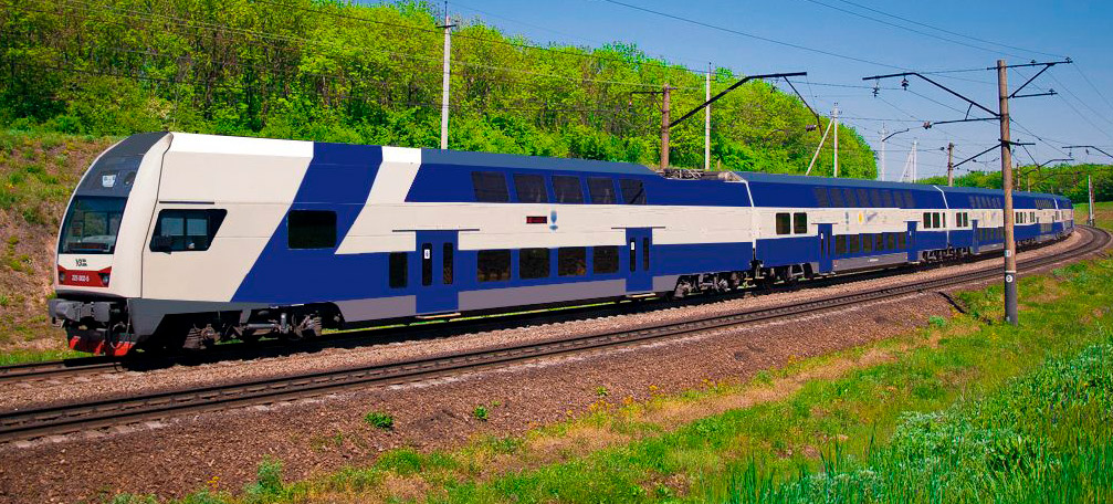 Один из вариантов дизайна поезда Skoda. Изображение — «Укрзалізниця».