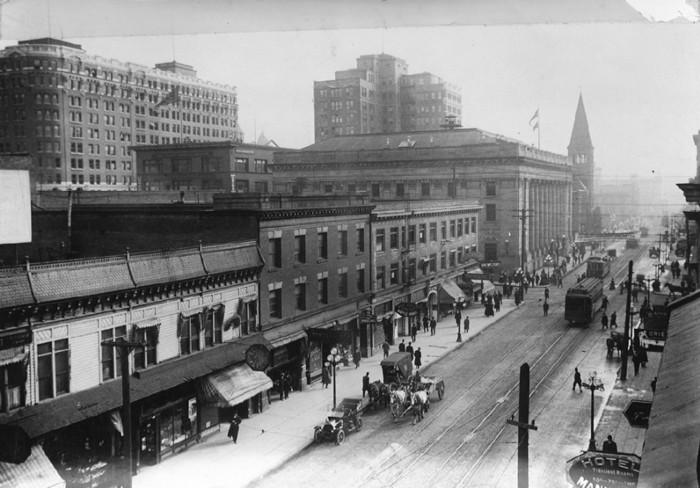 Сиэтл в 1911 году. Фото — Seattle Municipal Archives